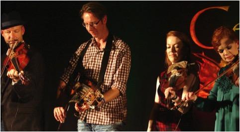 Mikael Marin and Olov Johansson of Vasen with Dawn & Margie Beaton